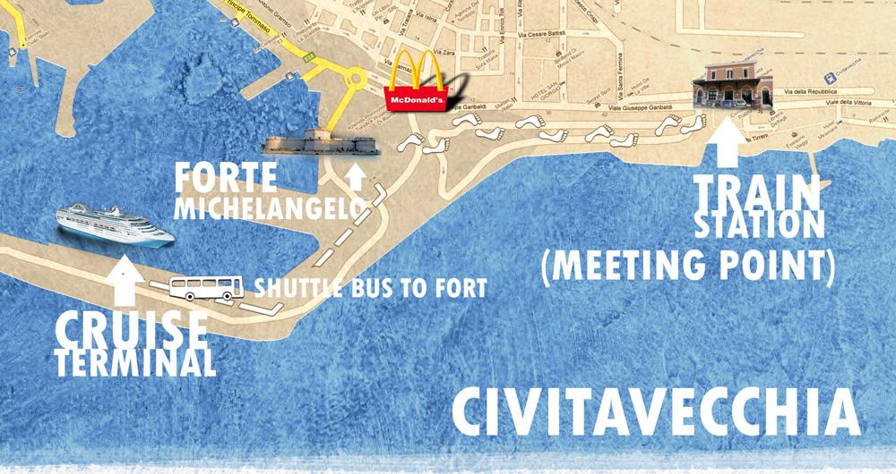 Civitavecchia train station to cruise ship - Port of civitavecchia cruise terminal ...